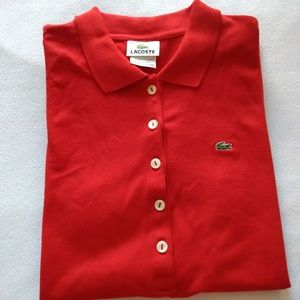 Lacoste Stretch Short Sleeve Pique Red Polo